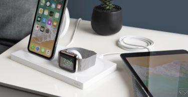 socle de recharge de montre Apple