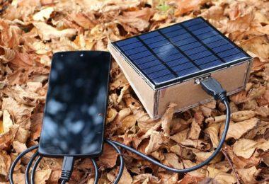 chargeur de téléphone solaire